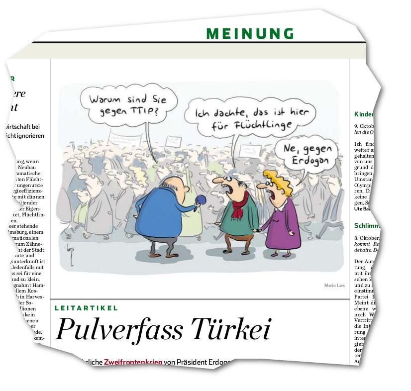 TTIP Karikatur Hamburger Abendblatt 12.10.2015